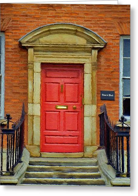 I See A Red Door Greeting Card by Jeff Kolker