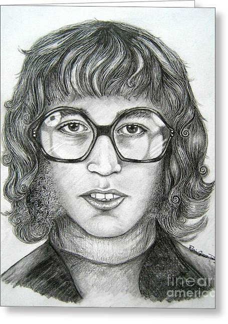 Greeting Card featuring the drawing Robin Gibb by Patrice Torrillo