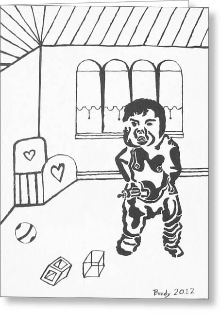 I Want My Milk Greeting Card by Brady Harness