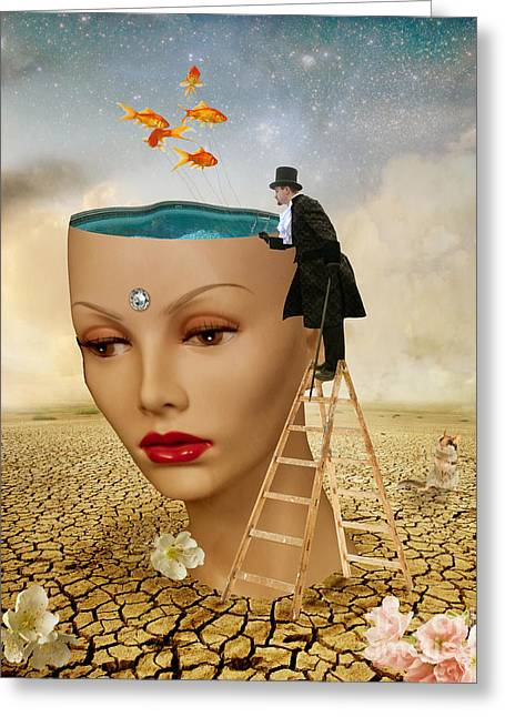 I Want To Look Inside Your Head Greeting Card by Juli Scalzi