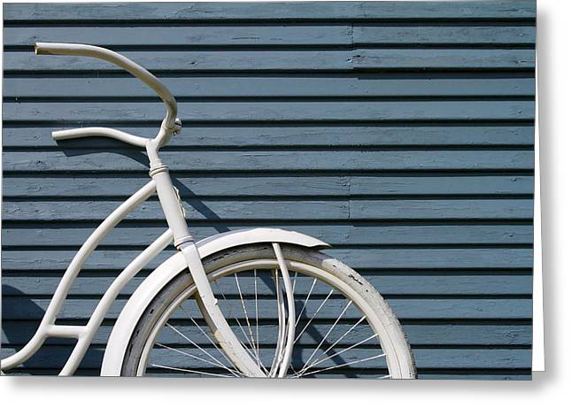 I Want To Ride My Bicycle Greeting Card by Chuck De La Rosa