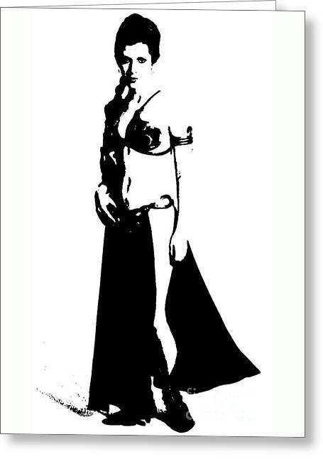 Leia I Was A Slave But Now I Am Free Greeting Card
