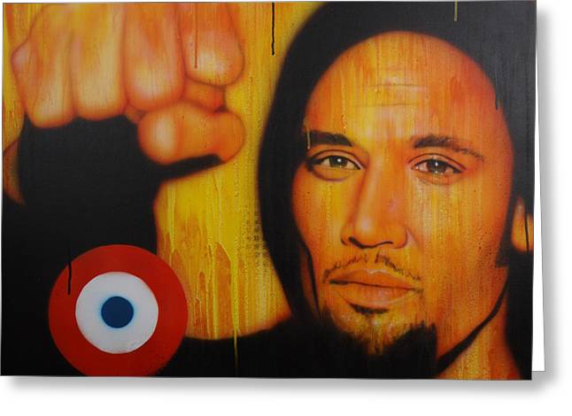 Ben Harper - ' I Will Look The World Straight In The Eye ' Greeting Card by Christian Chapman Art
