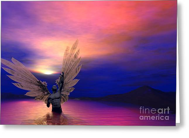 I Will Rise Again Greeting Card by Sipo Liimatainen