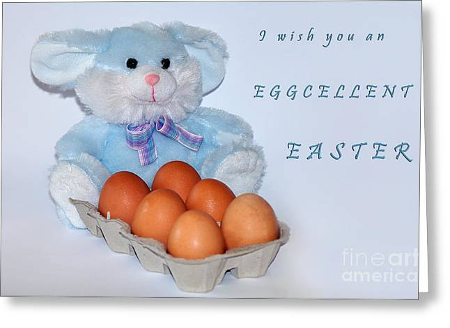 I Wish You An Eggcellent Easter Greeting Card