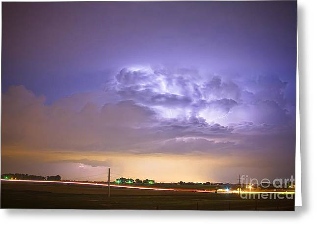 I25 Intra-cloud Lightning Strikes Greeting Card by James BO  Insogna