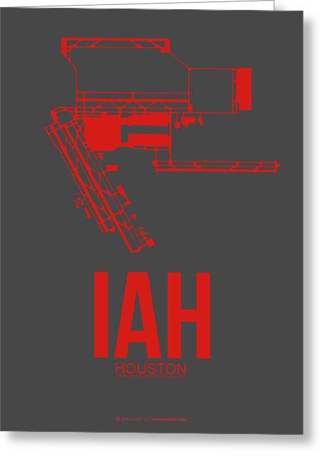 Iah Houston Airport Poster 1 Greeting Card by Naxart Studio