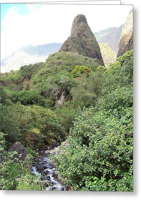 Greeting Card featuring the photograph Iao Needle by Sheila Byers