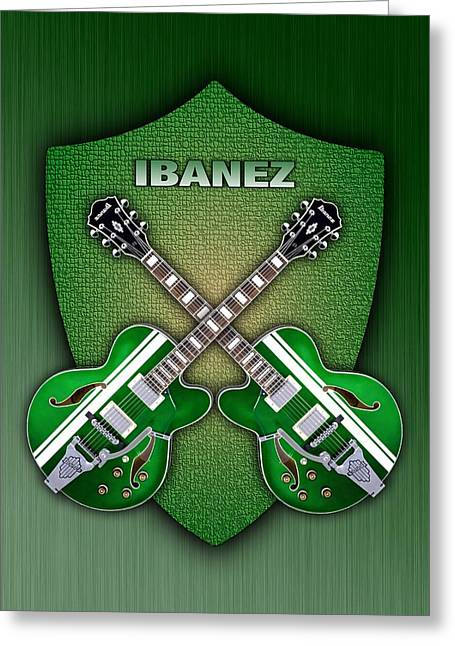 Ibanez Geen Shield Greeting Card by Doron Mafdoos
