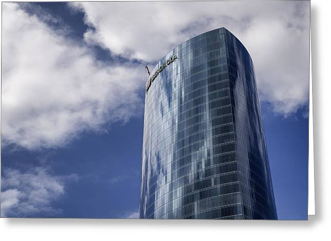 Iberdrola Tower Greeting Card by Pablo Lopez