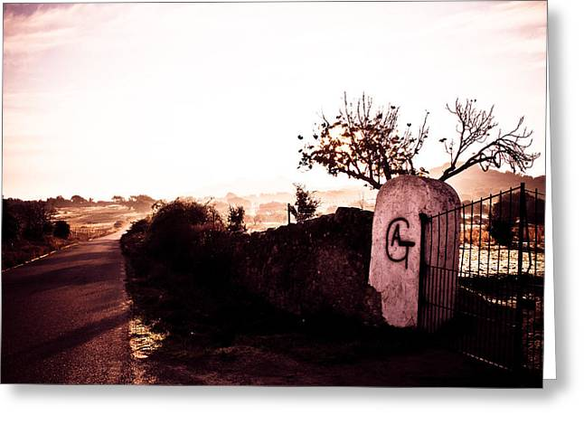 Iberian Gate Road Greeting Card by Calvin Hanson