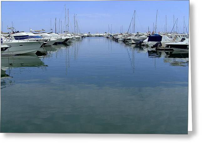 Ibiza Harbour Greeting Card