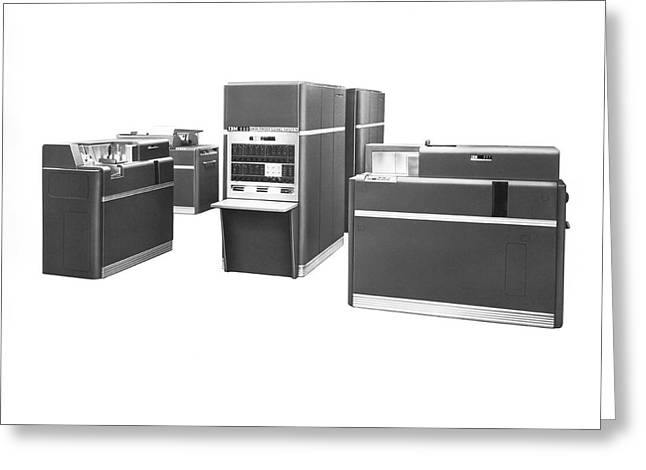 Ibm 650 Data Processing System Greeting Card by Underwood Archives