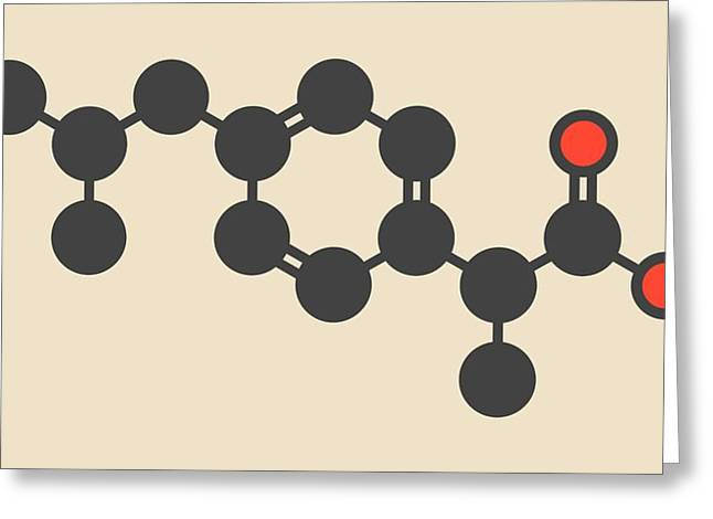 Ibuprofen Inflammation Drug Molecule Greeting Card