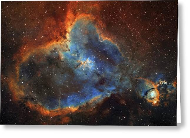 Ic 1805, The Heart Nebula In Cassiopeia Greeting Card by Lorand Fenyes