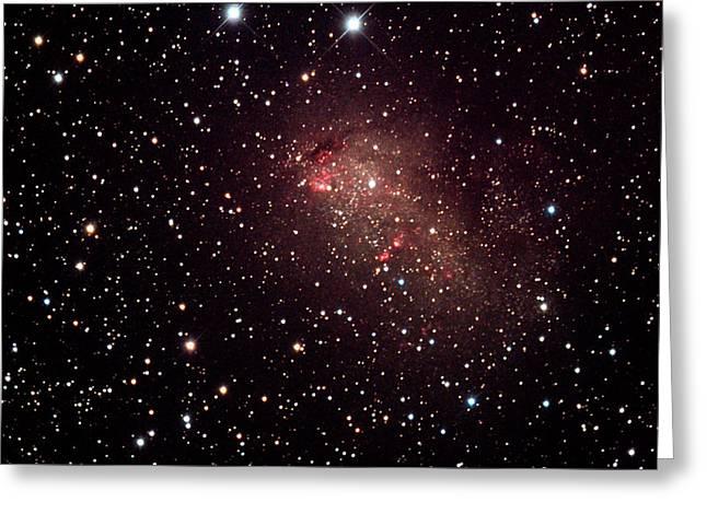 Ic10 Starburst Galaxy Greeting Card