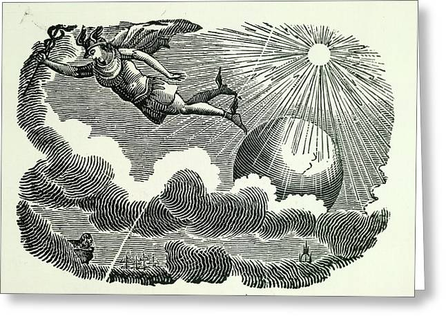 Icarus Greeting Card by British Library