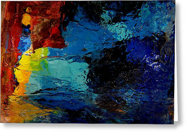 Ice Abstract Number One Greeting Card by Jeff Rennicke
