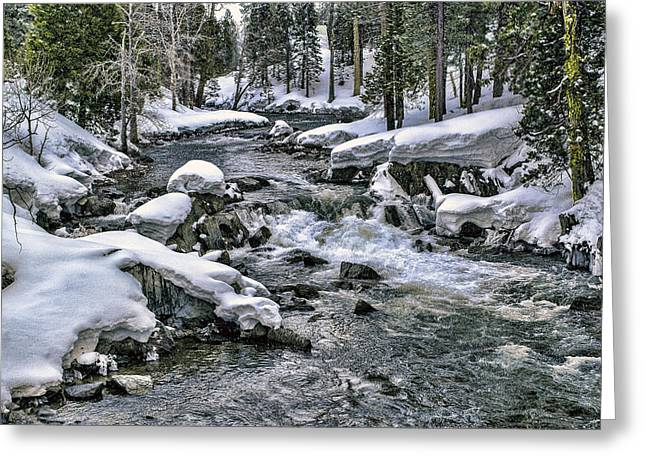 Greeting Card featuring the photograph Ice Blue Yuba At Soda Springs by William Havle