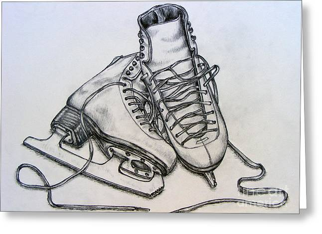 Ice Boots Greeting Card by Julie Hull
