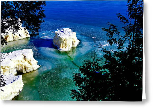 Ice-berg Door County Wisconsin Greeting Card by Carol Toepke