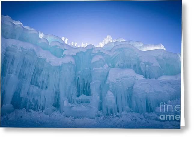 Ice Castle Greeting Card by Edward Fielding