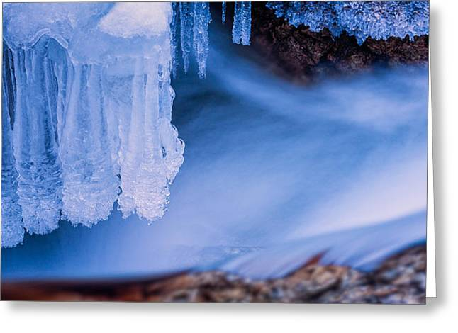 Ice Chandelier Greeting Card