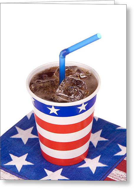 Ice Cold July Fourth Soda  Greeting Card by Joe Belanger