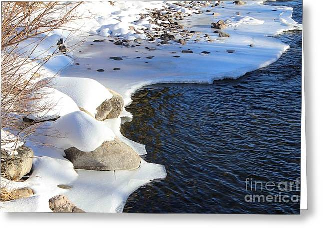 Greeting Card featuring the photograph Ice Cold Water by Fiona Kennard