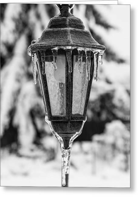 Ice Covered Lantern Greeting Card
