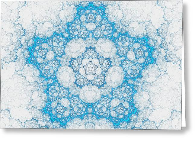 Greeting Card featuring the digital art Ice Crystals by GJ Blackman
