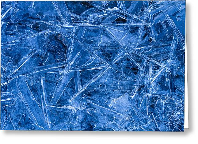 Ice Crystals Greeting Card by Teri Virbickis