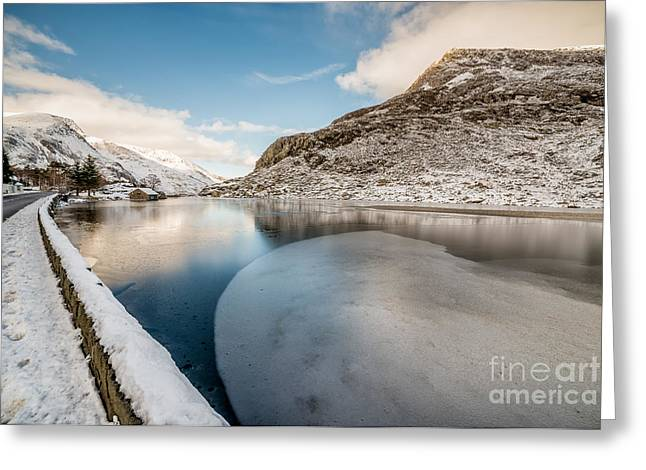 Ice Curve Greeting Card by Adrian Evans
