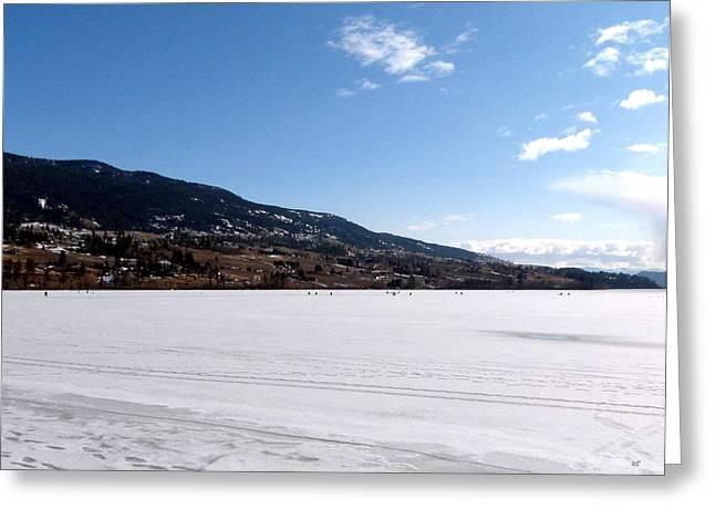 Ice Fishing On Wood Lake Greeting Card