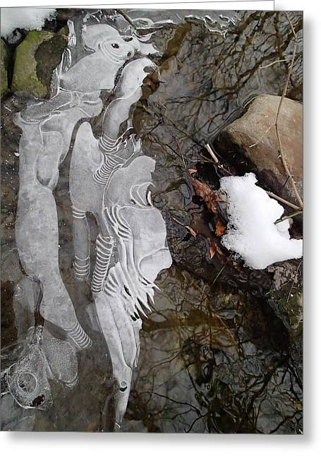 Ice Flow Greeting Card by Robert Nickologianis