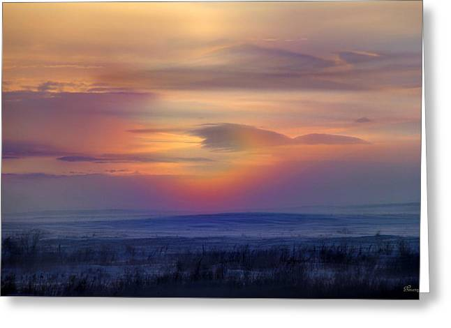 Ice Fog Sunrise Greeting Card by Andrea Lawrence