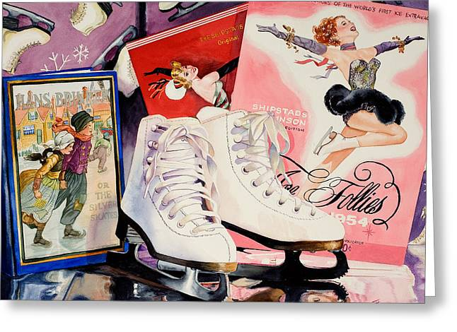 Ice Follies Greeting Card by Judy Koenig