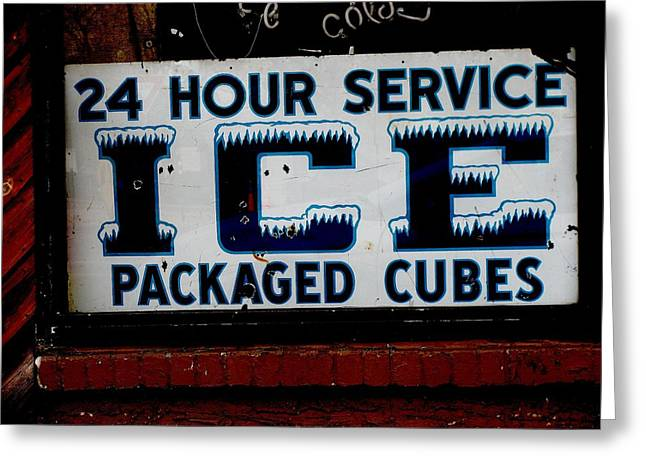 Ice For Sale Greeting Card by Steven Parker