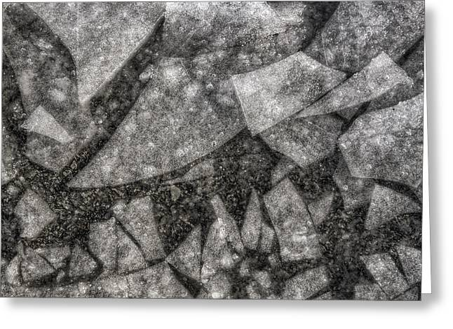 Ice Fractal Greeting Card by Jason Politte