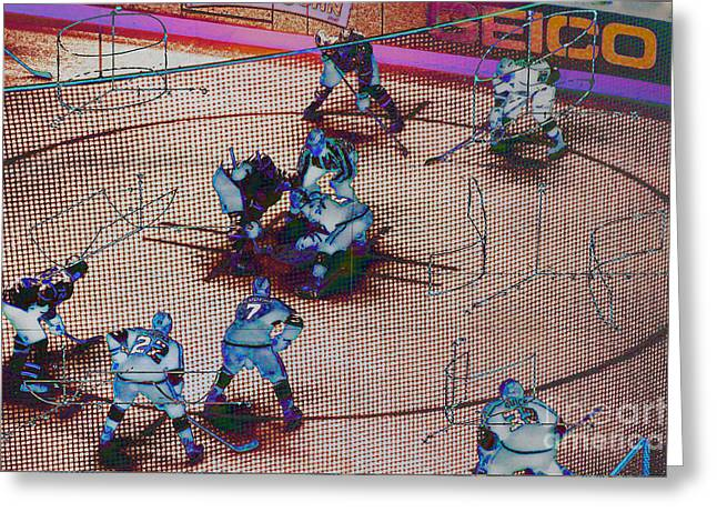 Ice Hockey Angles Greeting Card by RJ Aguilar