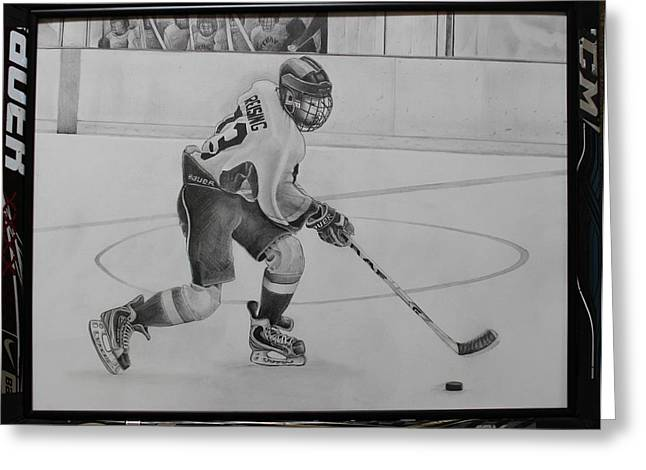 Ice Hockey Greeting Card by Gary Reising