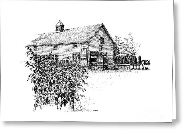 Ice House Winery Greeting Card by Steve Knapp
