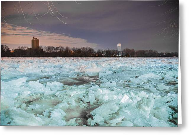 Ice Jam Greeting Card by Kristopher Schoenleber