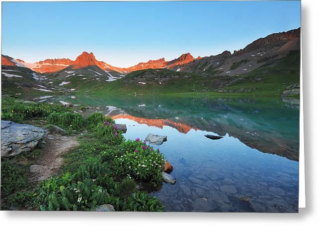 Ice Lake Sunrise Greeting Card