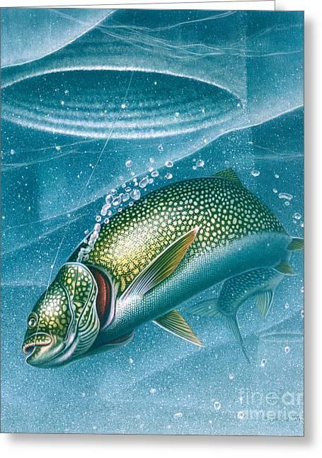 Ice Laker Greeting Card by Jon Q Wright