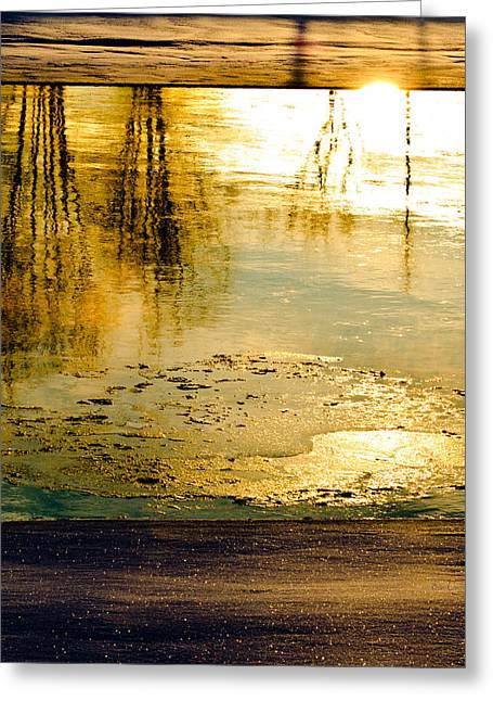 Ice On The River Greeting Card by Bob Orsillo
