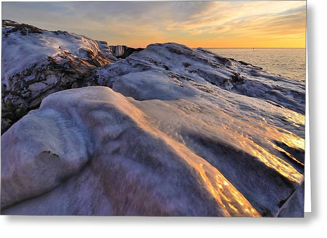ice Greeting Card by Paul Noble