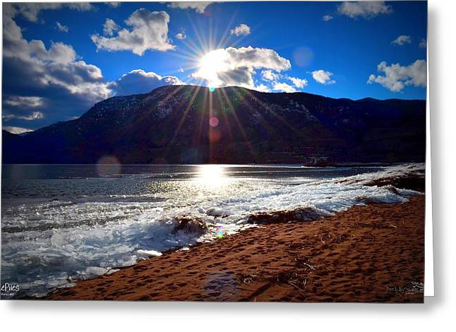 Ice Piles On Skaha Lake Penticton 02-19-2014 Greeting Card