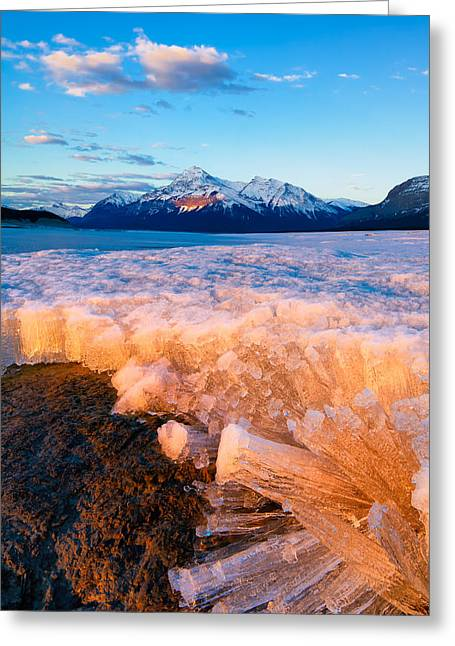 Ice Pillars Greeting Card