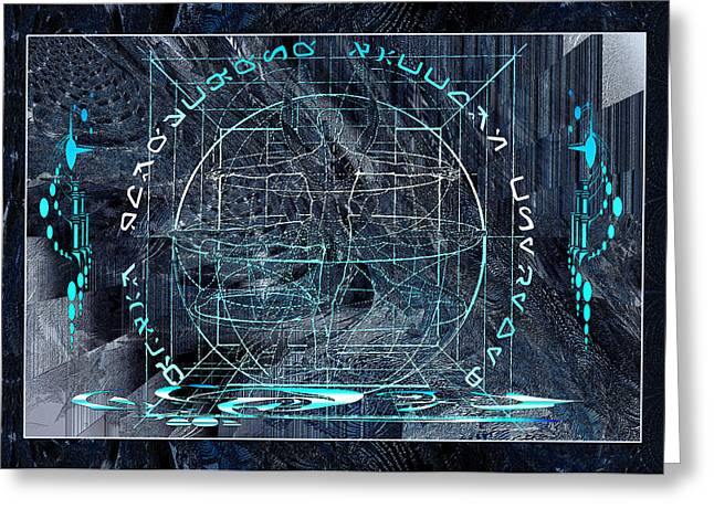 Ice Planet Glyph Greeting Card